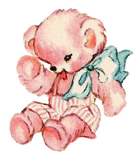 teddy bear baby illustration