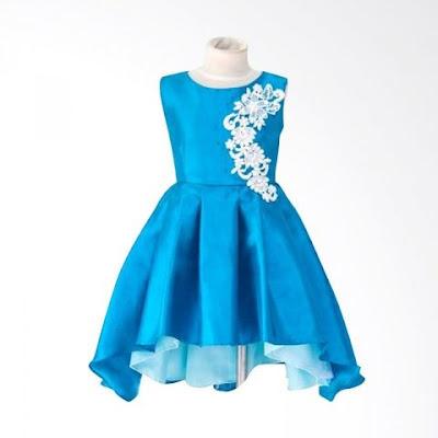 model baju pesta anak bahan brokat