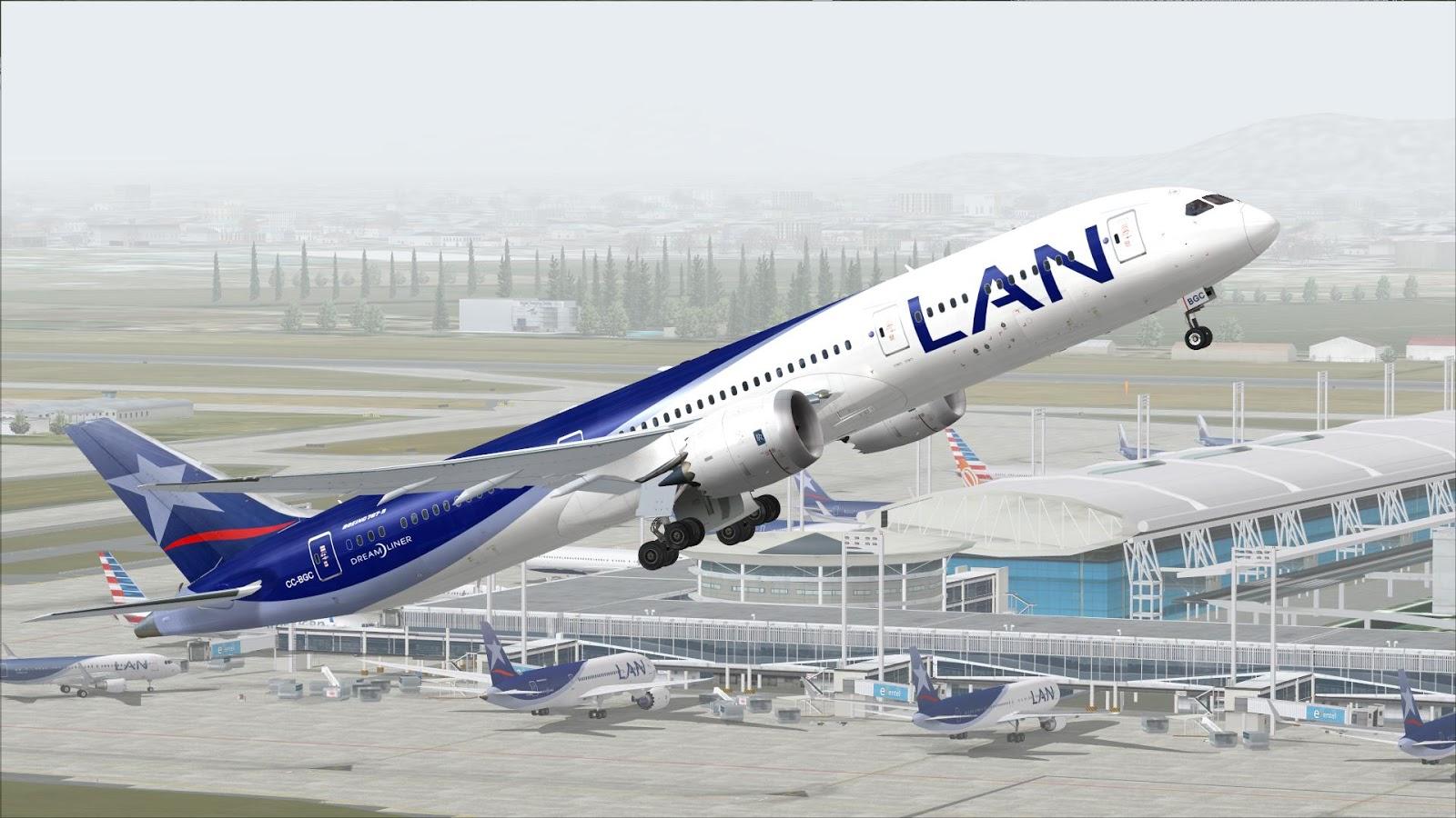 FSRepainter: TDS 787-9 LAN Airlines CC-BGA // C-BGB // CC-BGC