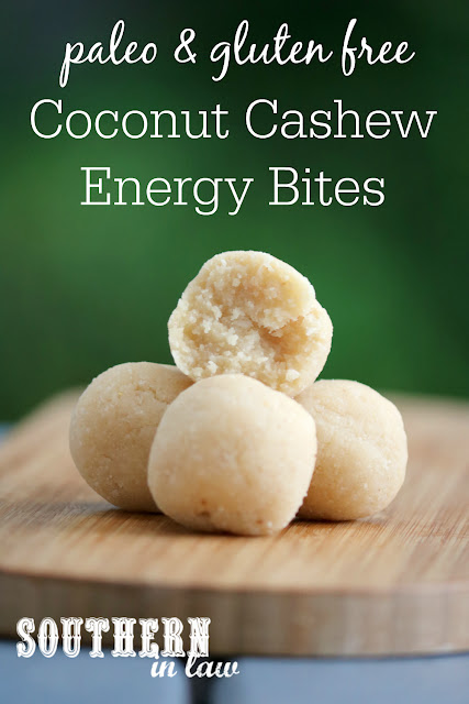 Healthy Vegan Coconut Cashew Cookie Dough Bites Recipe - raw, vegan, gluten free, sugar free, healthy, paleo, grain free, energy bites, clean eating recipe
