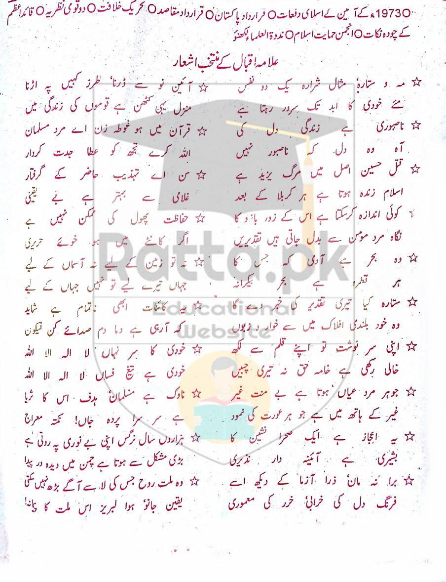 BA Pak Studies Guess Paper 2017 Punjab University Part 1 and 2