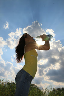 drink lots of water to keep the skin hydrated