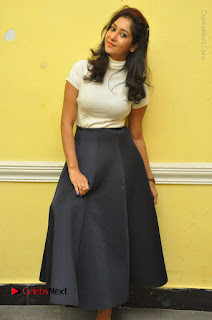 Telugu Actress Sindhu Affan Latest Pos in Black Skirt at Www.Meena Bazaar Movie Opening  0064.JPG
