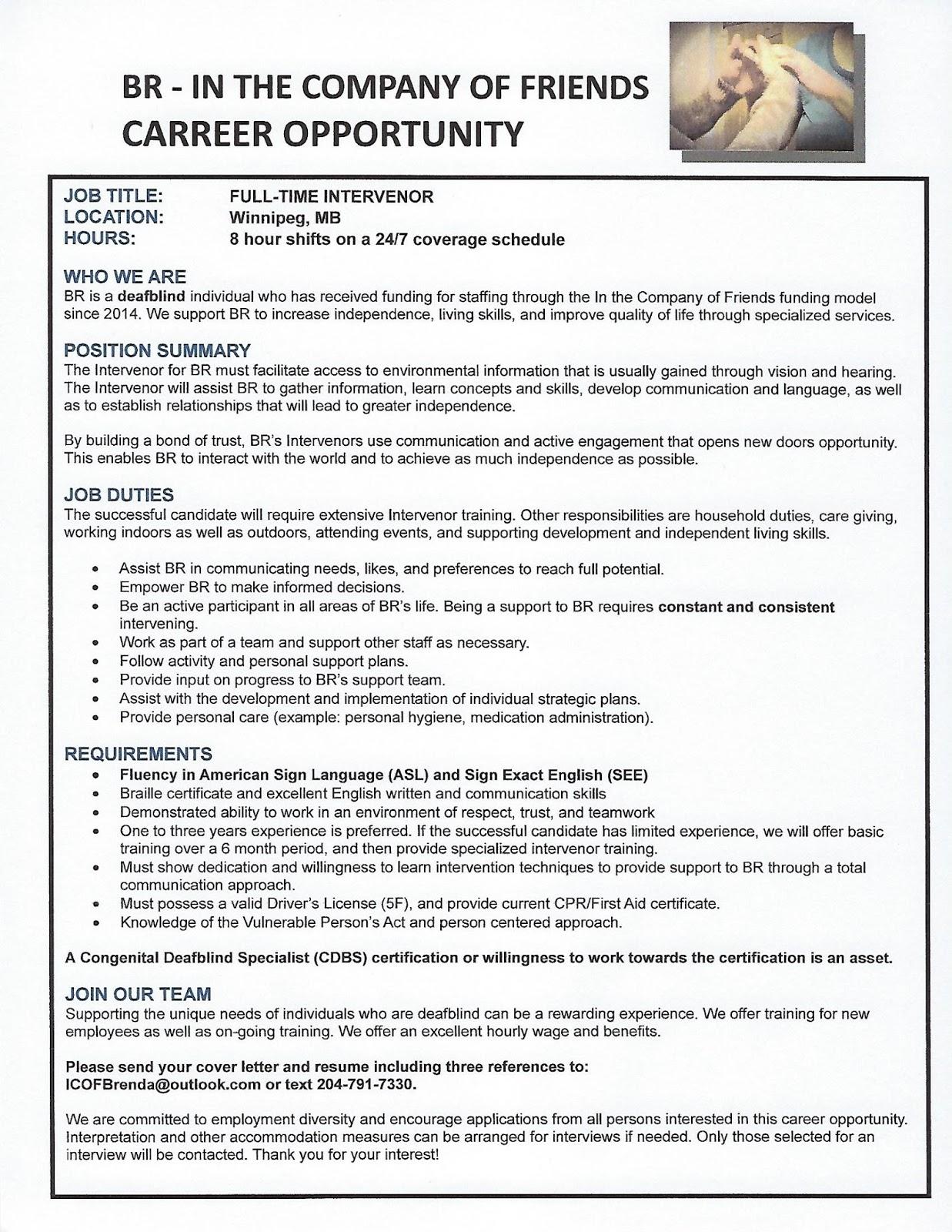 Deaf centre manitoba inc new update career opportunity full posted by deaf manitoba at 0915 spiritdancerdesigns Images