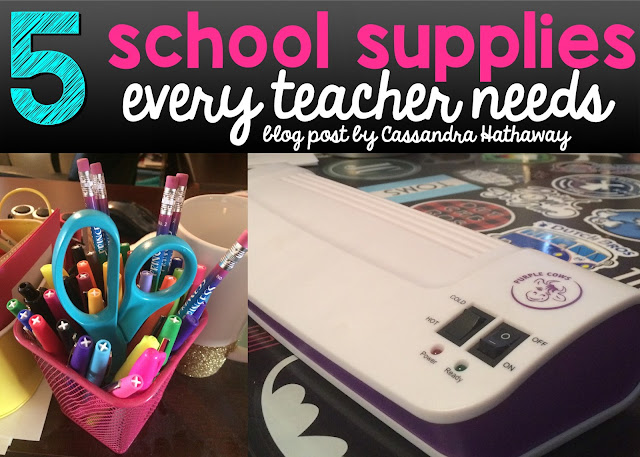 Top 5 school supplies every classroom teacher needs to have and where you can find them!  LOVE school supplies!