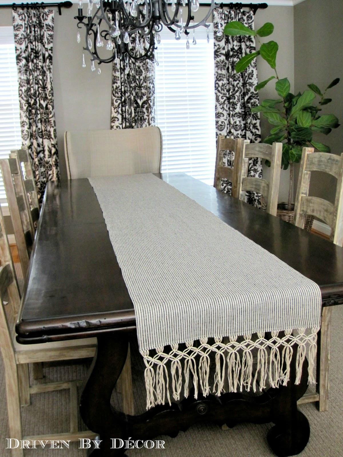 DIY Macrame Fringe Table Runner
