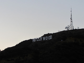 View northwest toward the Hollywood Sign on Mt. Lee