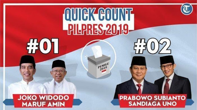 Sementara, Jokowi-Maruf Unggul di 6 Hasil Quick Count