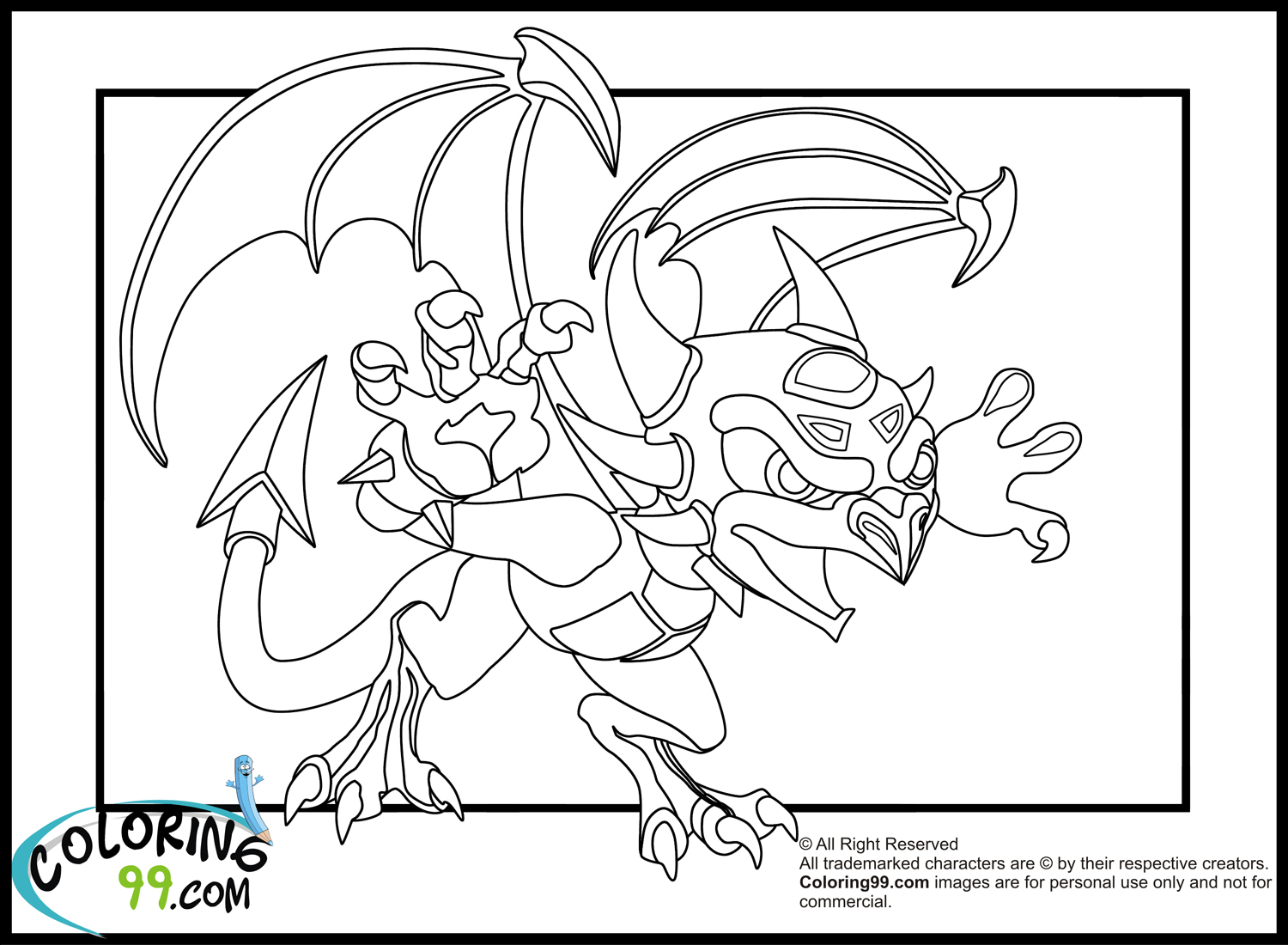 spyro and cynder coloring pages - photo#26