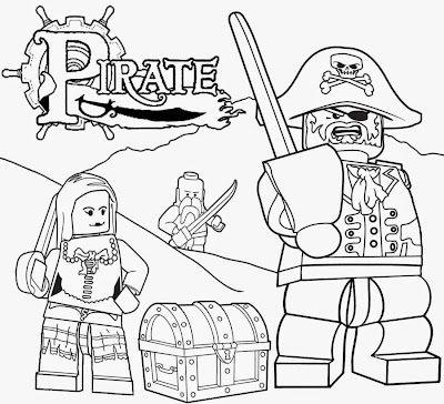 Caribbean Island treasure hunt at world's end Jack Sparrow Lego pirates coloring page for youngsters
