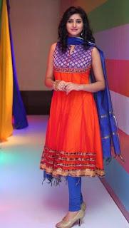 Shamili In Blue Churidar Salwar kameez At Big Bazaar (6)