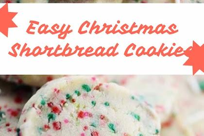 Easy Christmas Shortbread Cookies