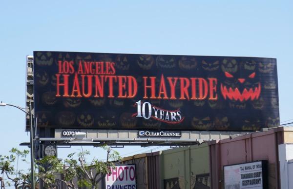 LA Haunted Hayride 10 years billboard