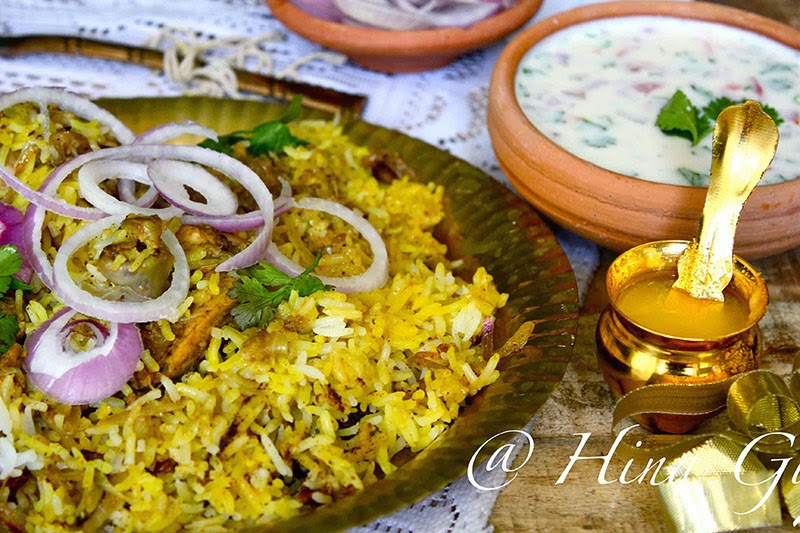 Mint chicken biryani