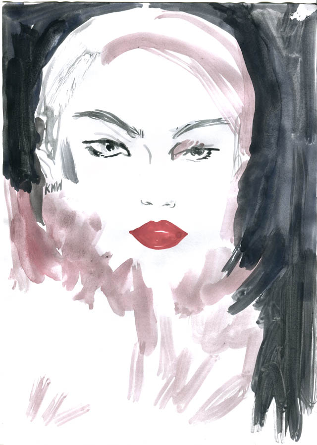 Kitty N. Wong / Beauty # 3 Ink Fashion Illustration