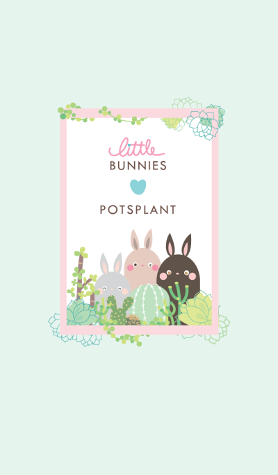 Little Bunnies Love Potsplant