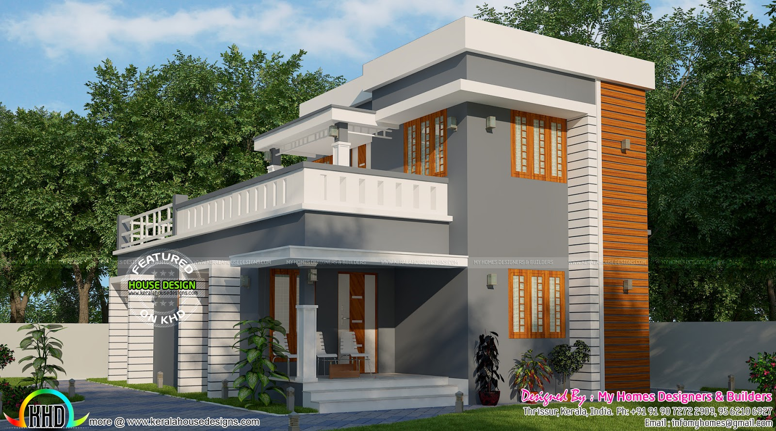 Simple low budget 3 bedroom house kerala home design for Minimalist house kerala