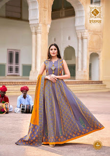Kiana House of fashion ghoomar Indo western gown