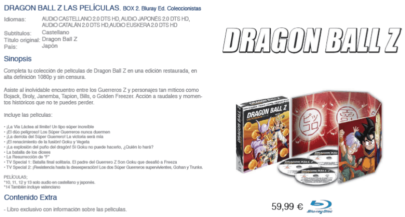 Dragon Ball Z películas