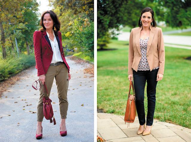 Блузка, брюки и жакет