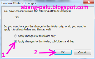 langkah menyembunyikan folder di komputer pc