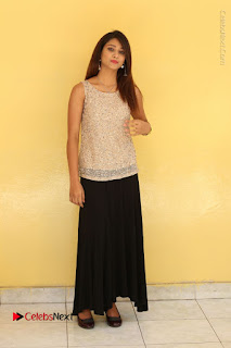 Tollywood Upcoming Actress Arthi Stills in Black Skirt at Plus 1 Movie Trailer Launch  0122.JPG