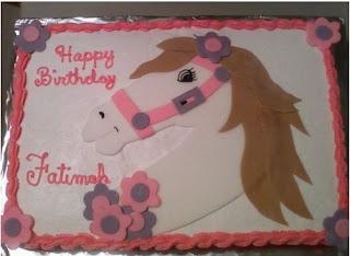 kue ulang tahun tema kuda wanita