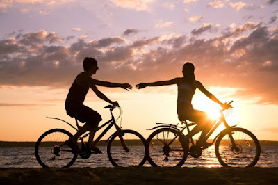"""Cycling and trekking  on the beach"" -  a good suggestion for the trip on Halong Bay."