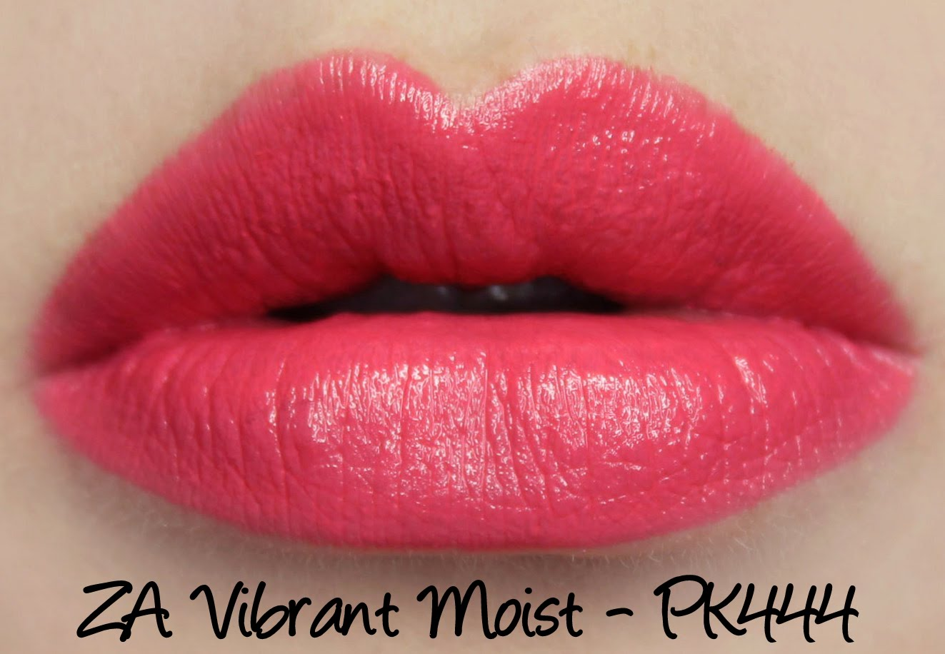 ZA Vibrant Moist Lipstick - PK444 swatches & review