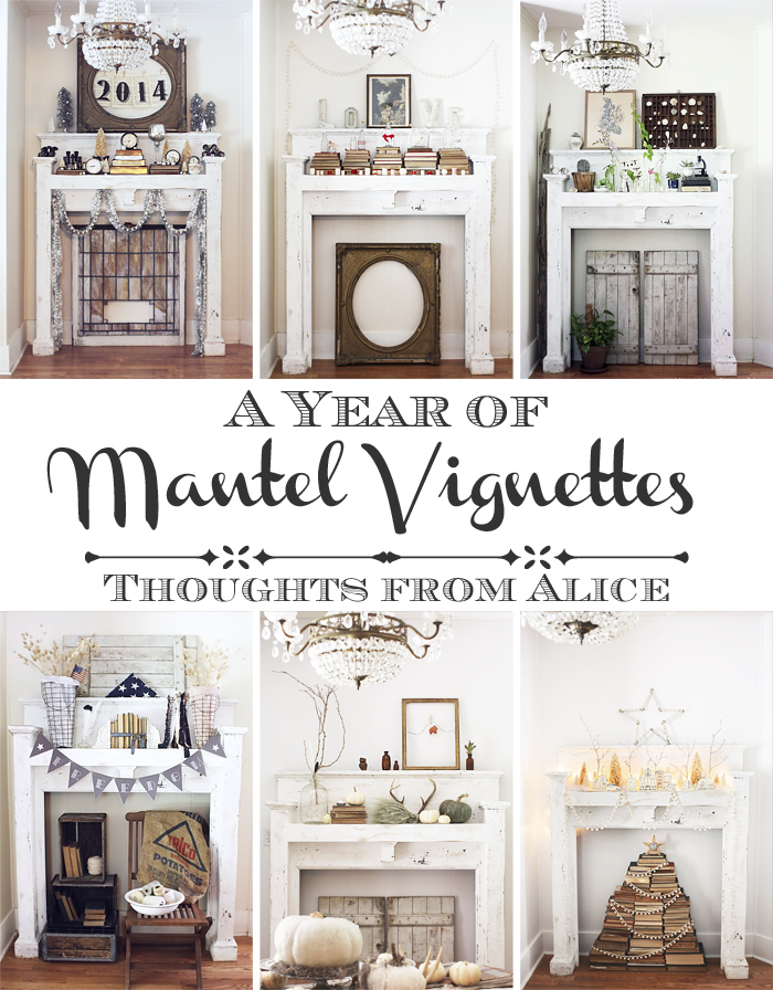 Thoughts From Alice Vintage Valentine's Mantel A Bonus Vignette