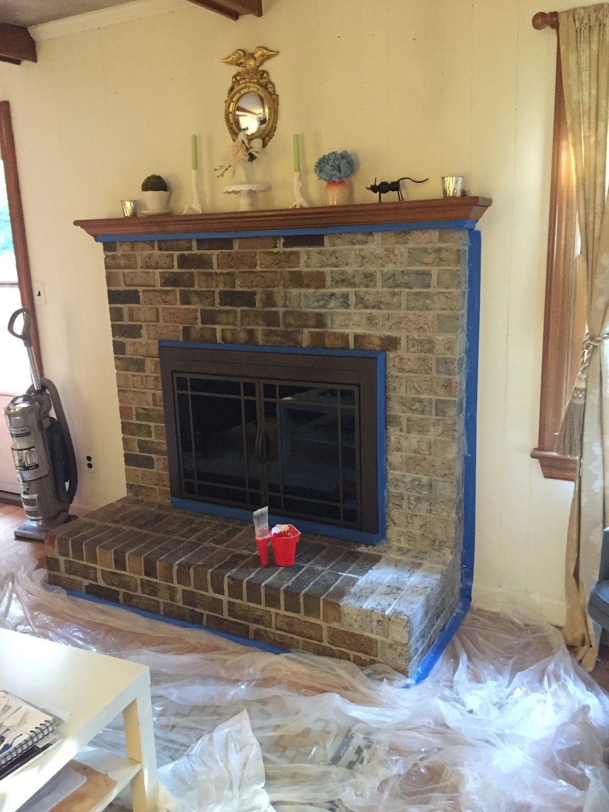 newly domesticated easy 3 hours whitewash a fireplace