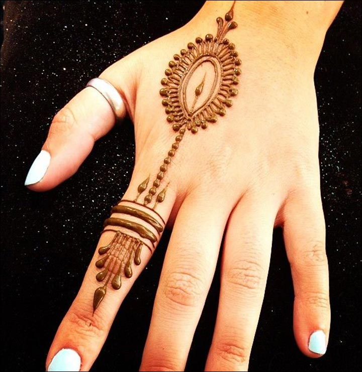 Finger Ring Mehndi Designs For Hands