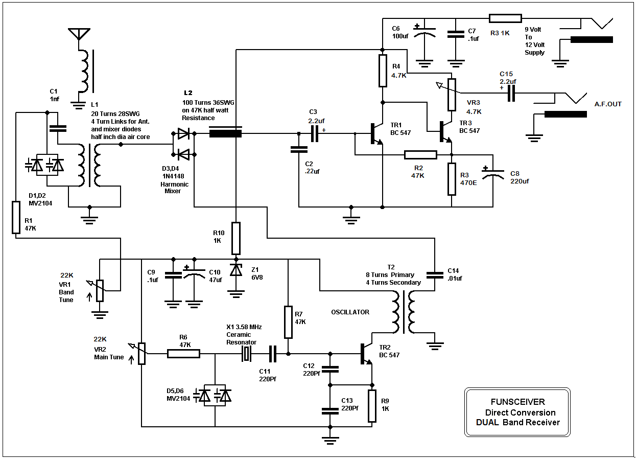 Mass Airflow Receiver Circuit Cool Skeleton Diagram Small Wonder Qrp January 2016