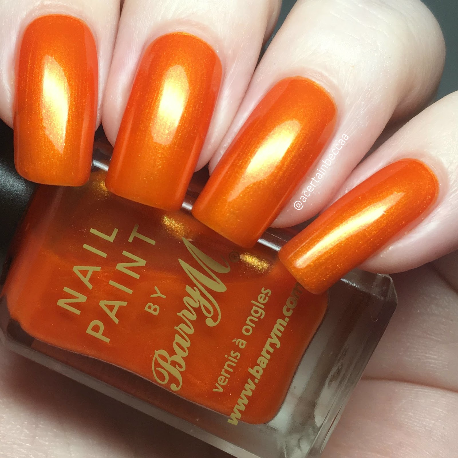 A Certain Becca Nails Barry M Cosmetics Tangerine