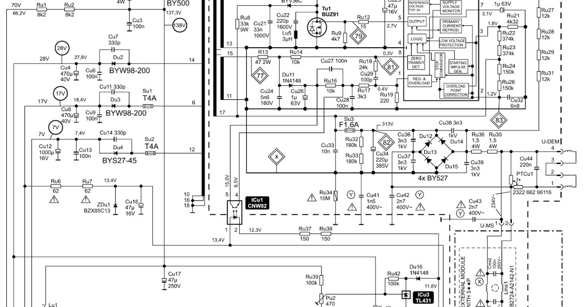 Electro help: TV POWER SUPPLY [SMPS] SCHEMATIC [ Circuit
