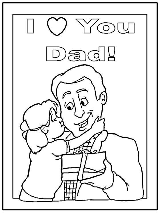 I Love You Dad Coloring Pages For Kids | Desktop ...