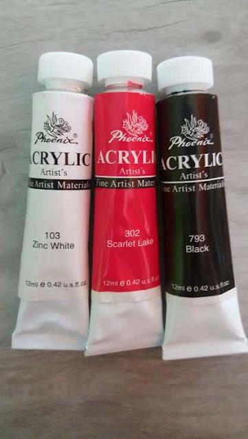 blog-farby-akrylowe-phoenix-artist-materials-bialy-103-zinc-white-czerwony-302-scarlet-lake-czarny-793-black-12ml
