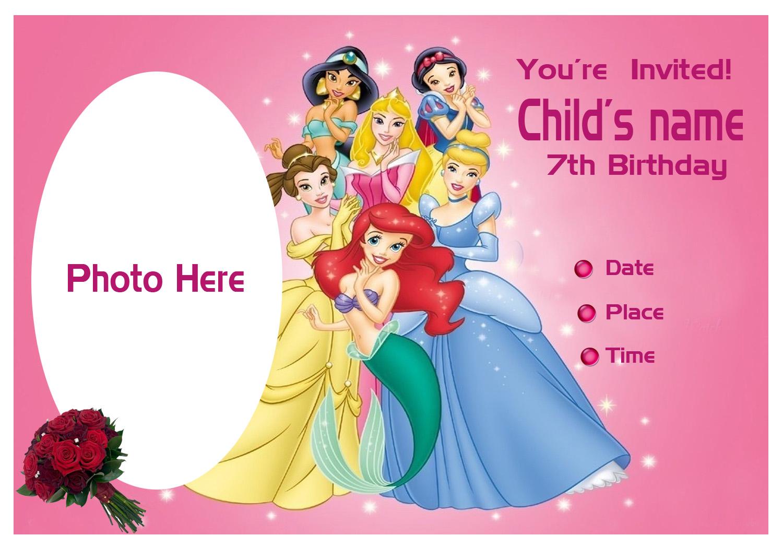Pinktinyshop: Photo Invites for 7th Birthday Girl