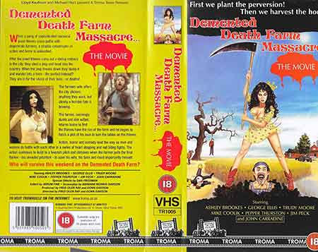 Demented Death Farm Massacre, Portada VHS USA