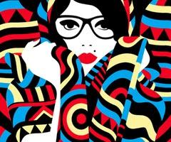 Ilustración minimalista de Malika Favre
