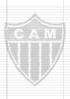 Papel Pautado Atletico Mineiro rabiscado PDF para imprimir na folha A4