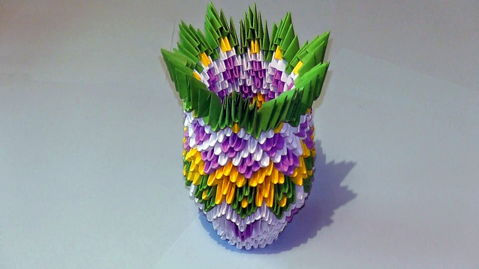 3d Origami Vase Easy Simple Origami For Kids