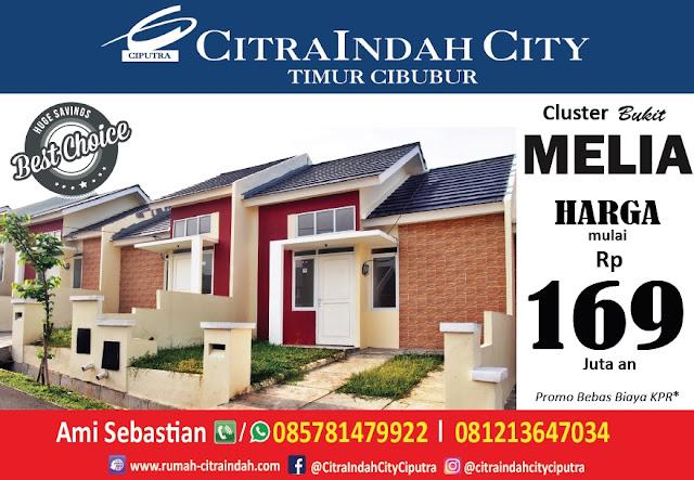 Cluster Bukit MELIA Citra Indah City mulai dipasarkan - Harga mulai 169 jt an