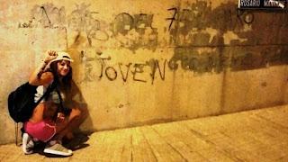 Condenada a cuatro meses de cárcel por una pintada contra el paro juvenil en Canarias