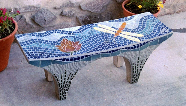 Stepping Stones Benches Mosaic And Stained Glass