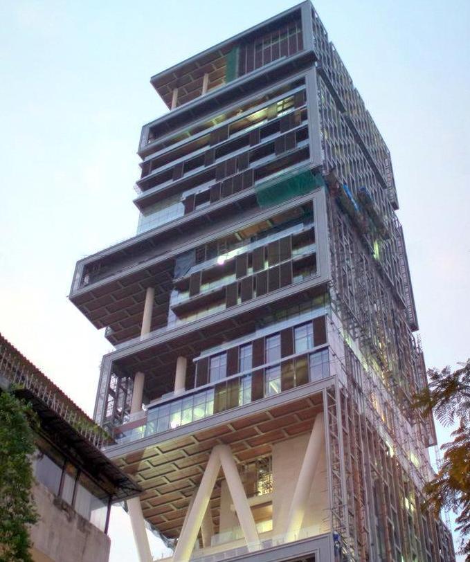 Antilia - The One Billion Dollar Home of Mukesh Ambani ...