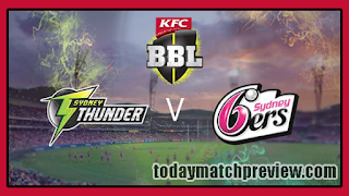 Today BBL 2018-19 8th Match Prediction Sixer vs Thunder
