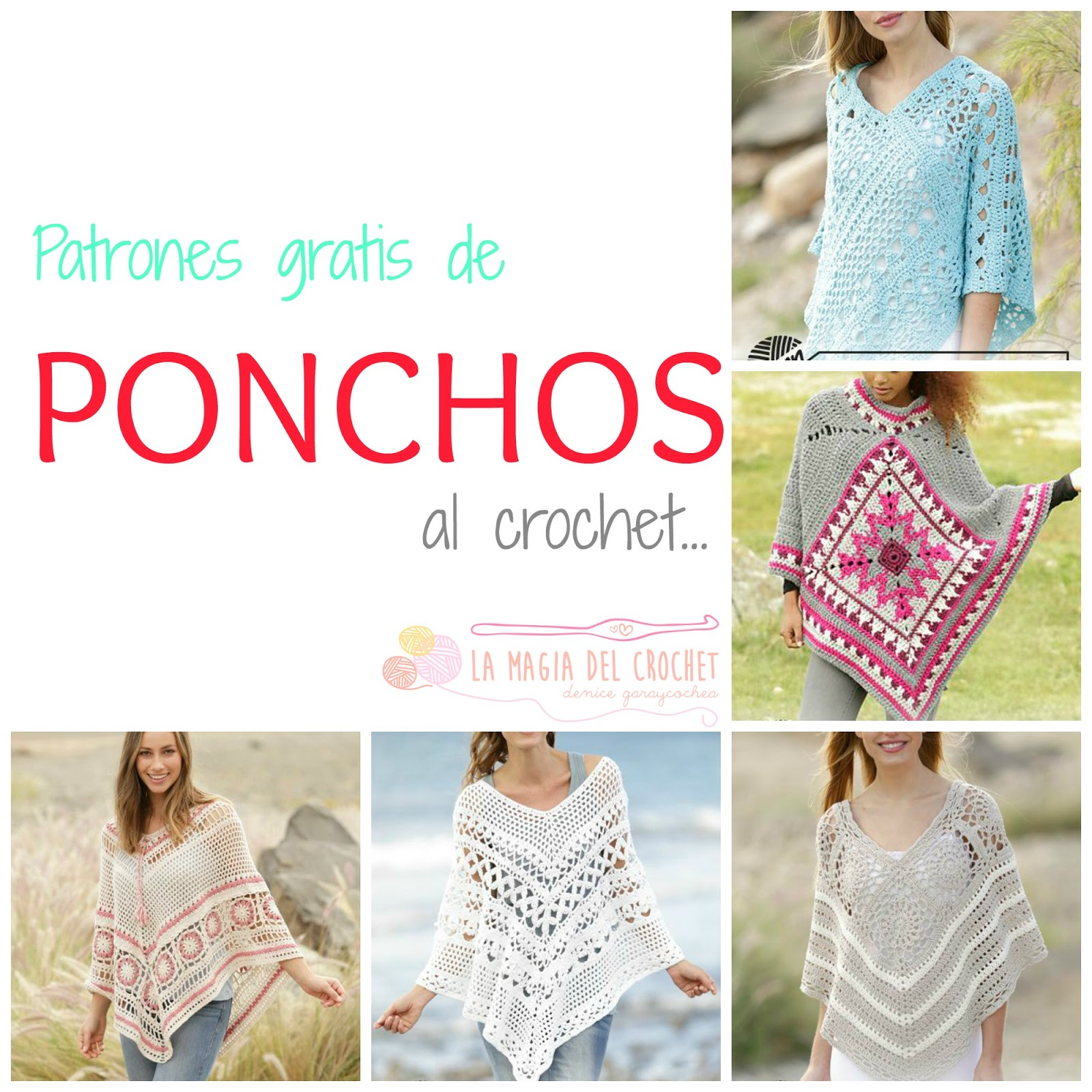 La Magia del Crochet: PONCHOS A CROCHET