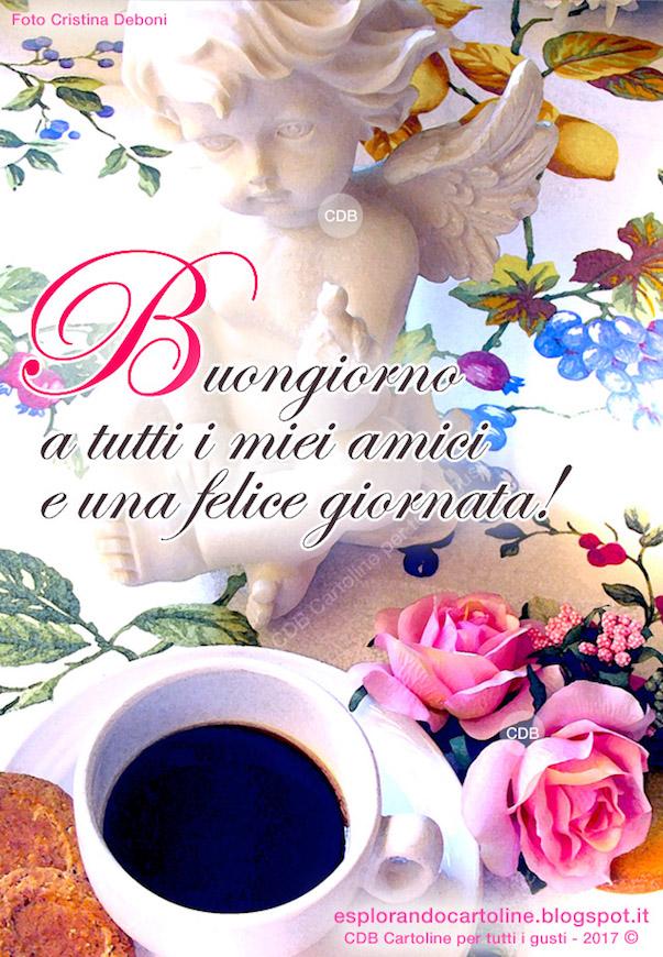 Cdb Cartoline Per Tutti I Gusti Cartolina Buongiorno A Tutti I Miei