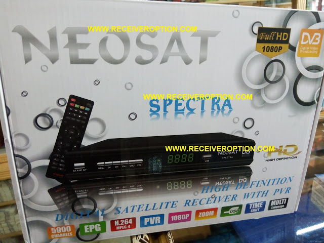 OLD NEOSAT SPECTRA HD RECEIVER AUTO ROLL POWERVU KEY NEW SOFTWARE